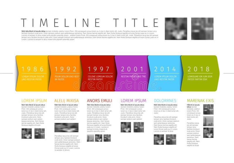 Calibre coloré de rapport de chronologie d'Infographic de vecteur illustration de vecteur