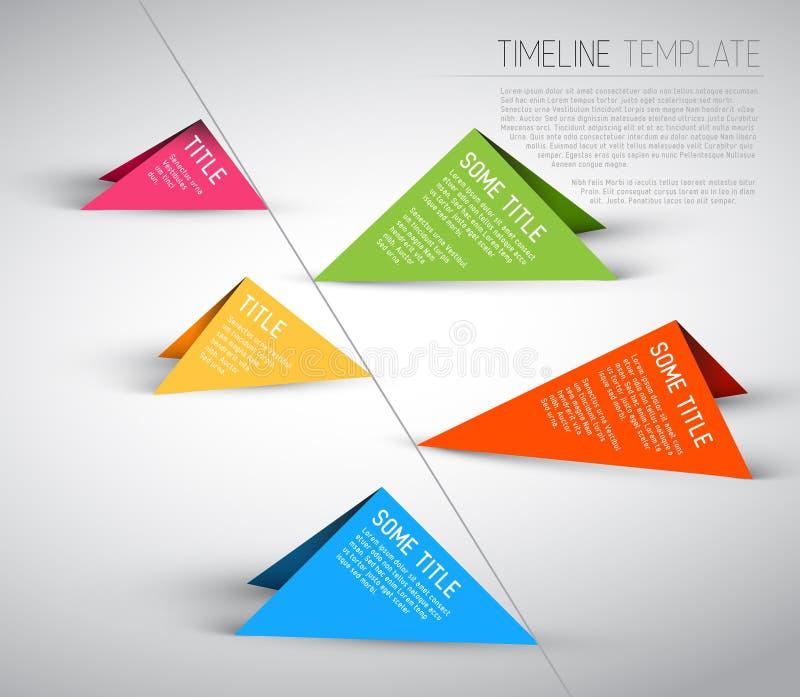 Calibre coloré de rapport de chronologie d'Infographic illustration stock