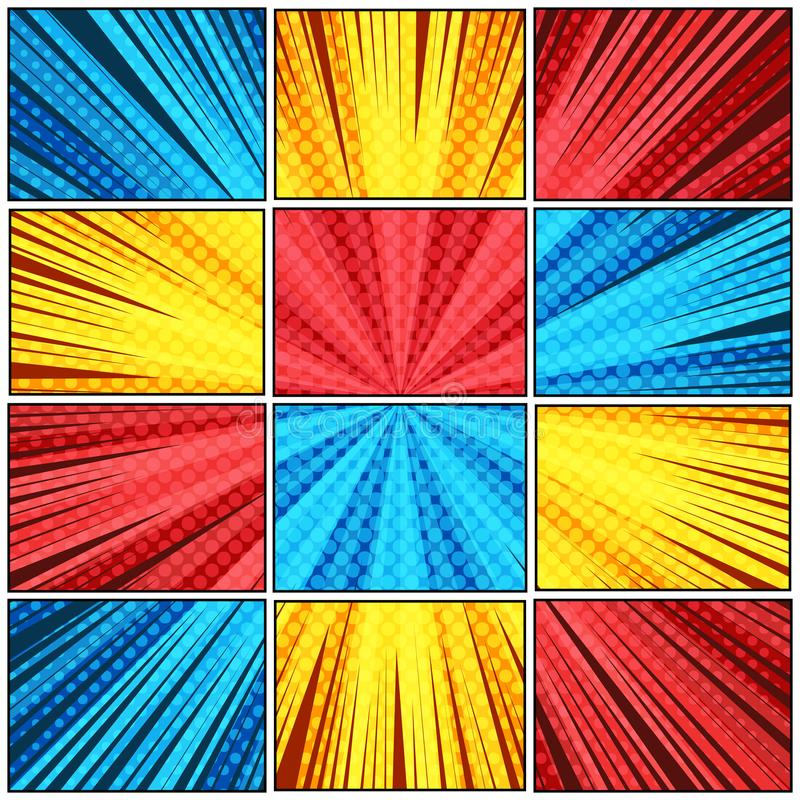 Calibre coloré lumineux abstrait illustration de vecteur