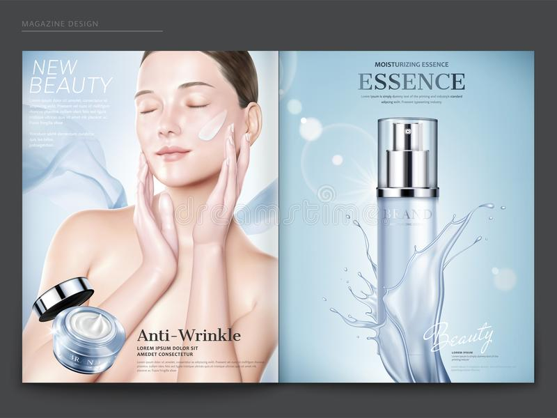 Calibre cosmétique de magazine illustration stock