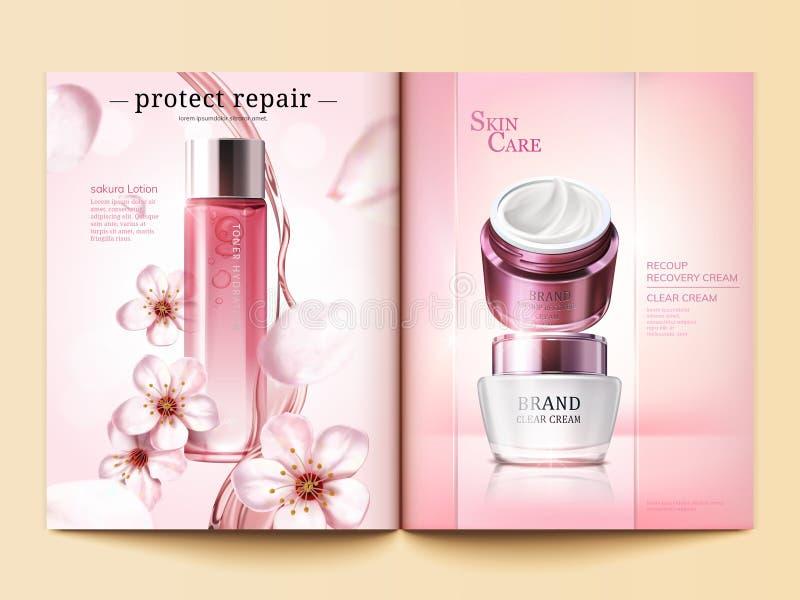 Calibre cosmétique de magazine illustration de vecteur