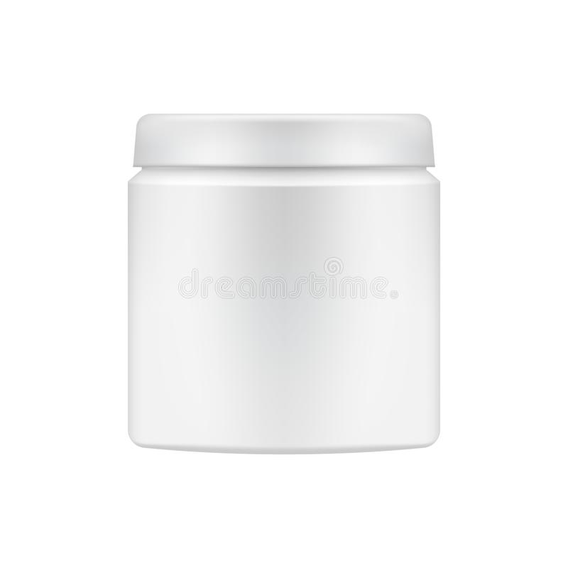 Calibre cosmétique de paquet de vecteur illustration stock