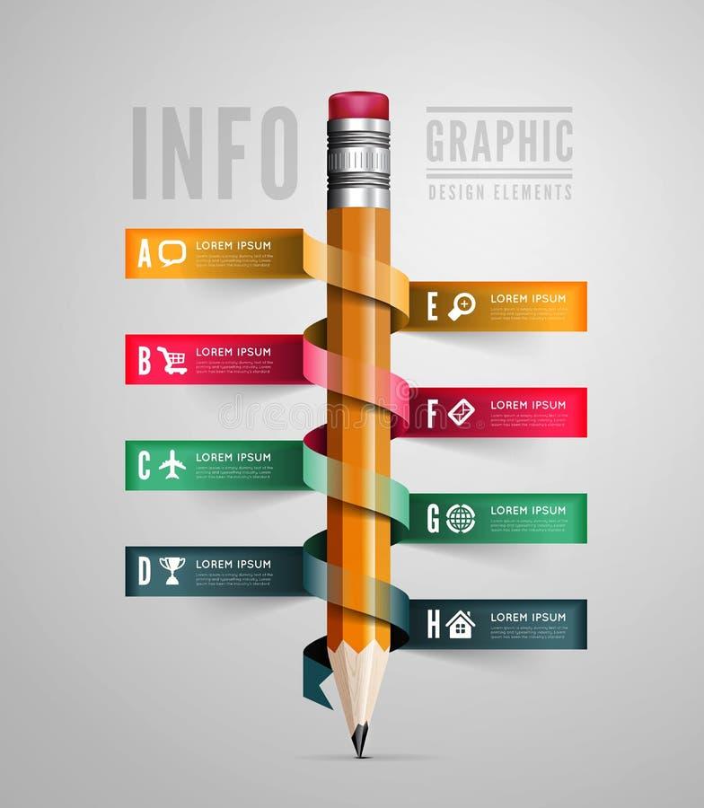 Calibre créatif avec le ruban de crayon illustration libre de droits