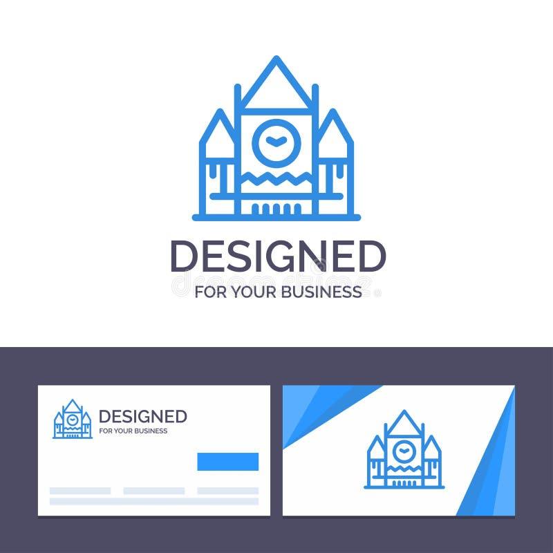Calibre créatif Canada, bloc de centre, gouvernement, illustration de carte de visite professionnelle et de logo de visite de vec illustration libre de droits