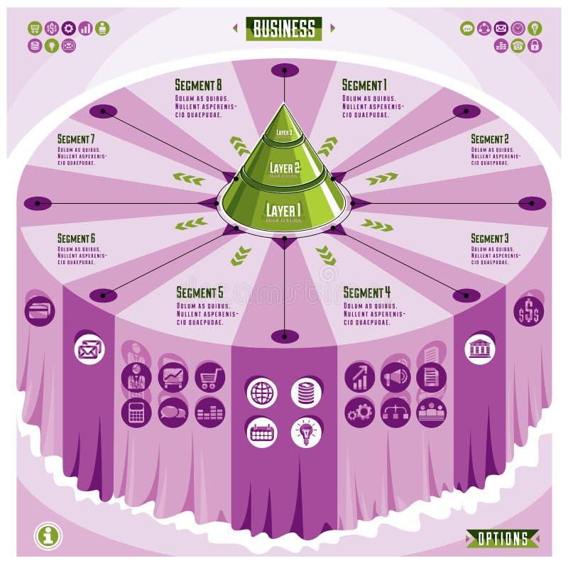 Calibre créatif d'infographics, table 3d avec l'identification posée de pyramide illustration de vecteur