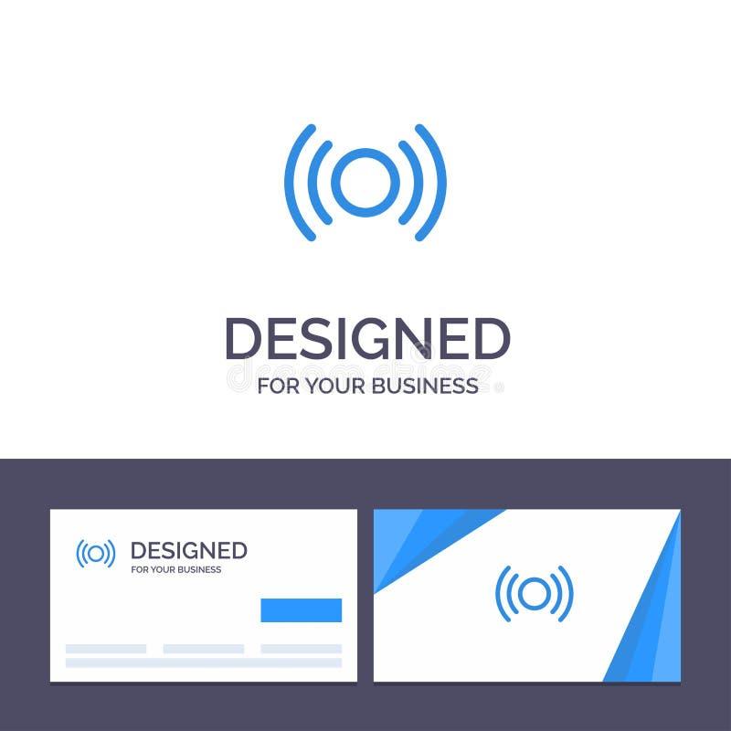 Calibre créatif de carte de visite professionnelle et de logo de visite de base, essentiel, signal, Ui, illustration de vecteur d illustration libre de droits
