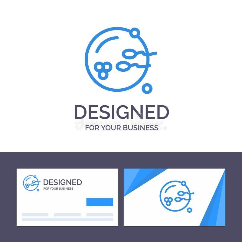 Calibre créatif de carte de visite professionnelle et de logo de visite fertile, procréation, reproduction, illustration de vecte illustration libre de droits