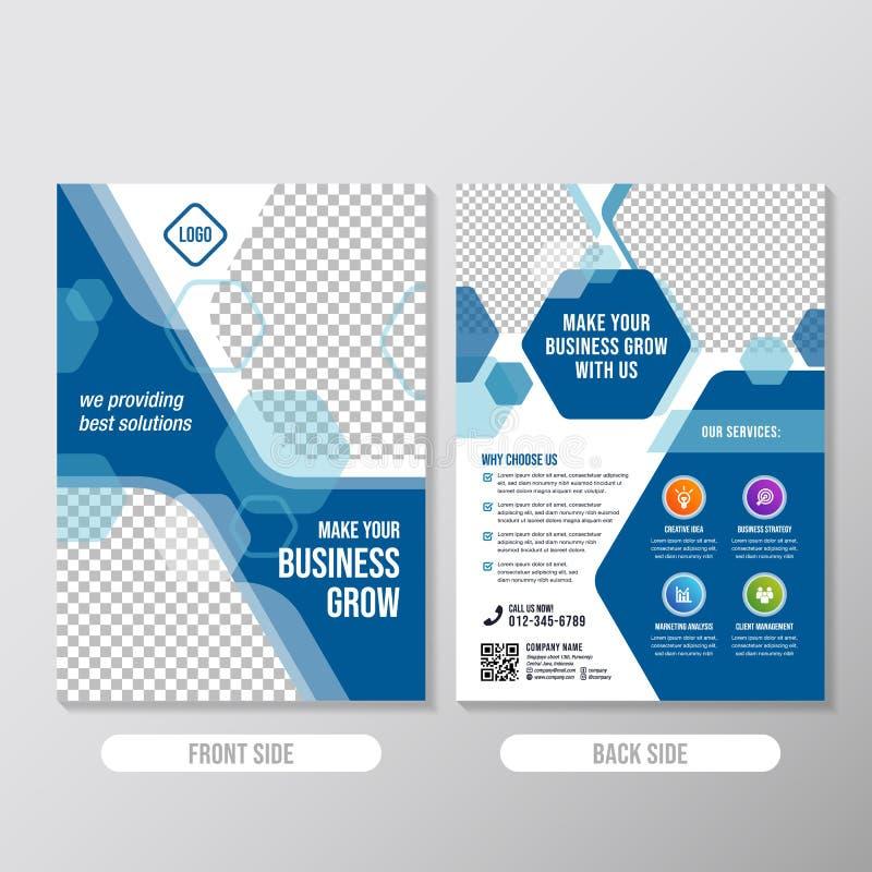 Calibre créatif de conception de brochure d'affaires avec l'élément polygonal illustration libre de droits