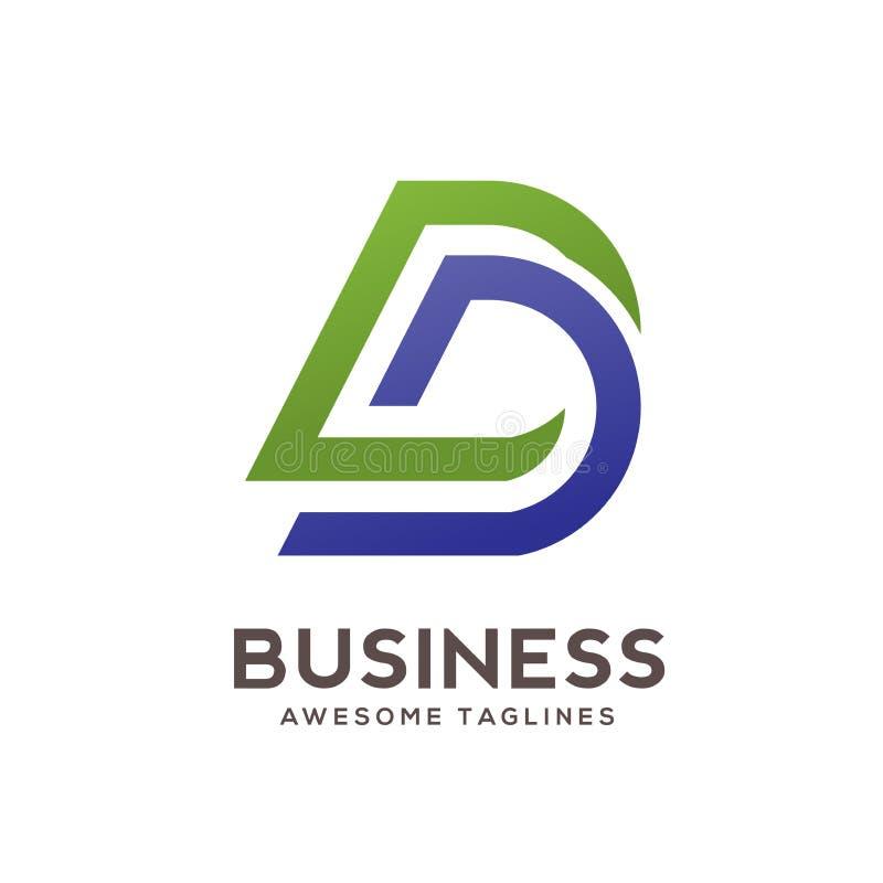Calibre créatif de conception de logo de densité double de lettre illustration libre de droits