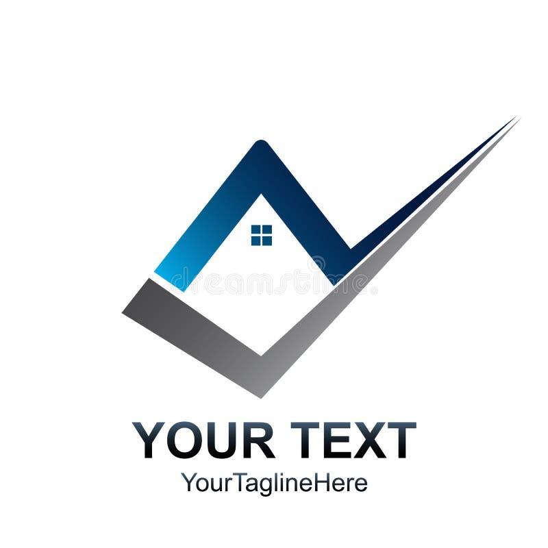 Calibre créatif de logo de maison de contrôle Conception d'élément de Real Estate illustration libre de droits