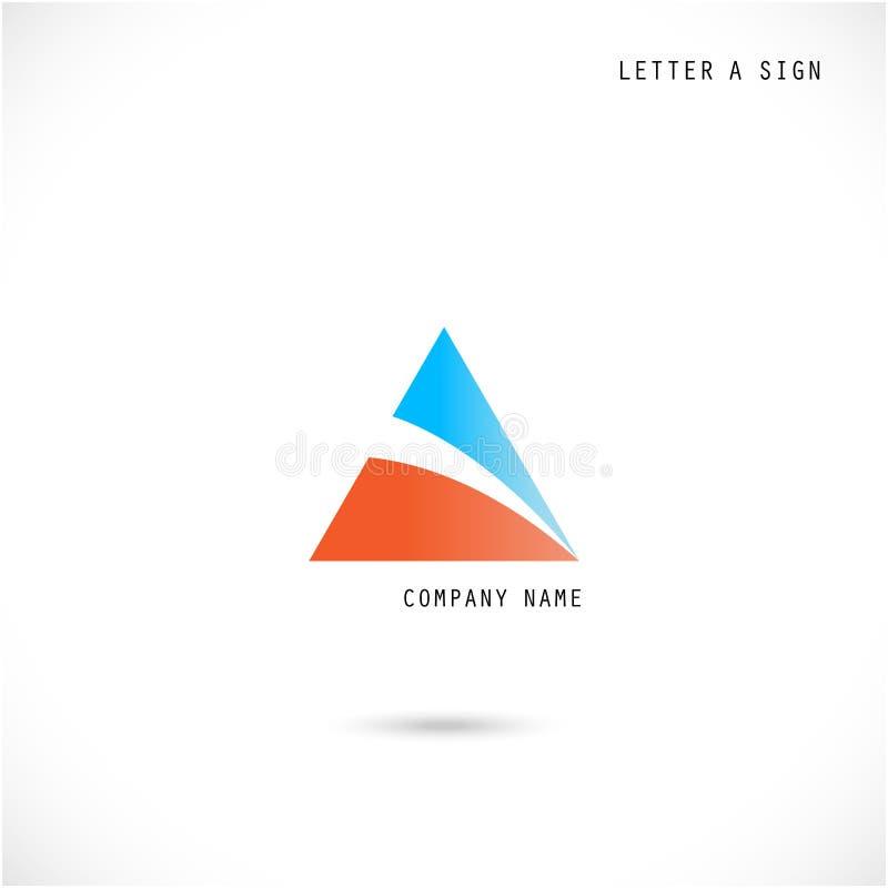 Calibre créatif de vecteur de conception de logo d'abrégé sur icône de la lettre A illustration stock