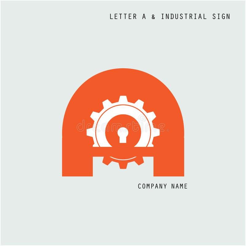 Calibre créatif de vecteur de conception de logo d'abrégé sur icône de la lettre A avec illustration libre de droits
