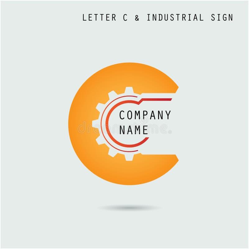 Calibre créatif de vecteur de conception de logo d'abrégé sur icône de la lettre C avec illustration libre de droits