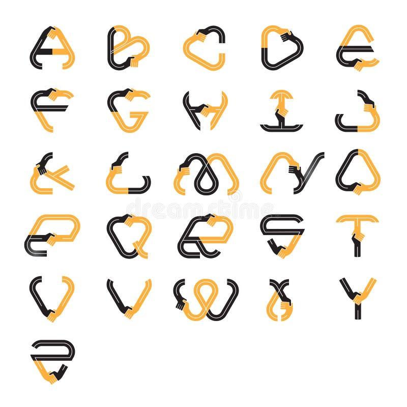 Calibre créatif de vecteur de conception de logo d'abrégé sur icône de lettre illustration libre de droits