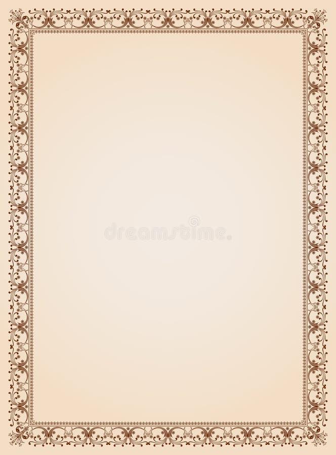 Calibre décoratif 4 de certificat de cadre de frontière illustration de vecteur