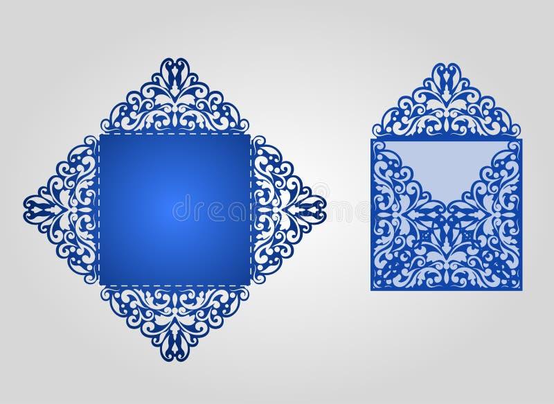 Calibre découpé avec des matrices d'enveloppe illustration stock