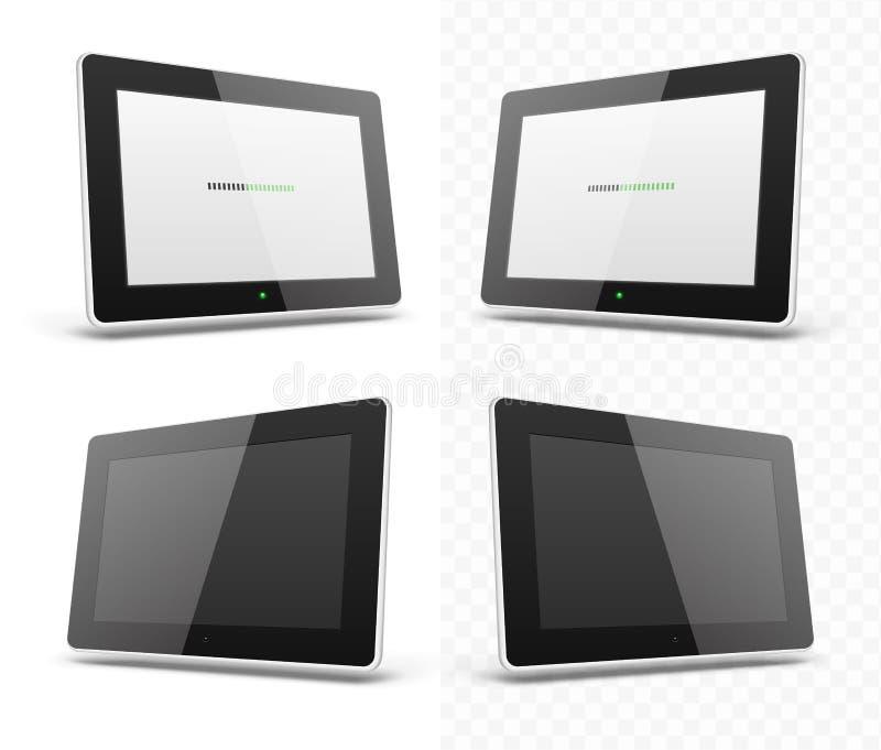 Calibre d'écran de comprimé de hd de périphérique mobile illustration stock