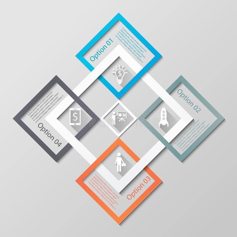 Calibre d'affaires de diamants d'Infographic illustration de vecteur