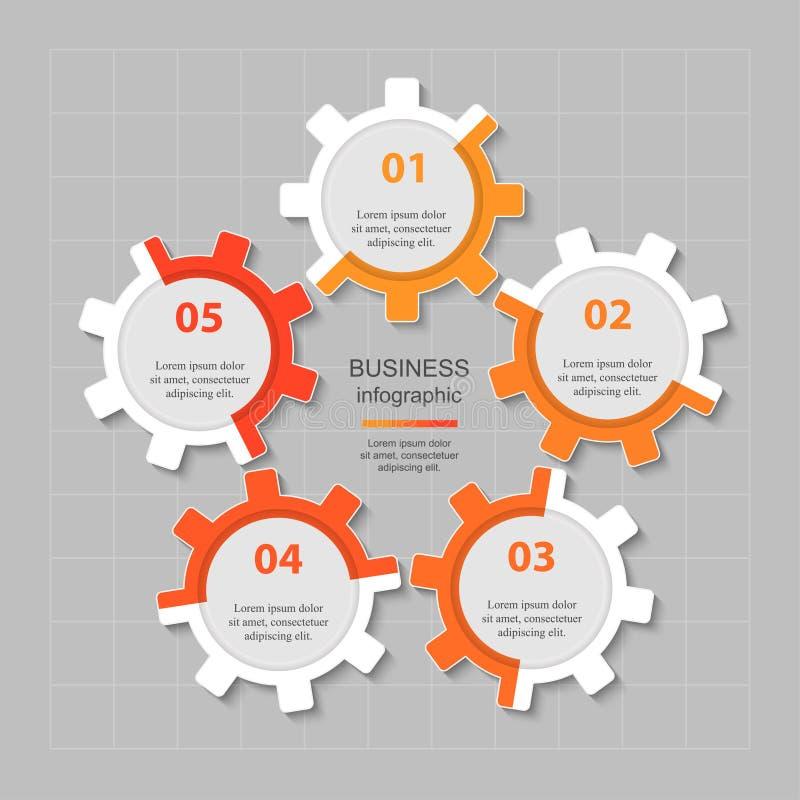 Calibre d'affaires de vecteur pour la présentation illustration libre de droits