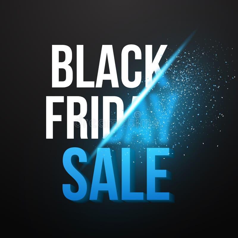 Calibre d'affiche d'Exlosion de vecteur de vente de Black Friday Novembre énorme illustration de vecteur