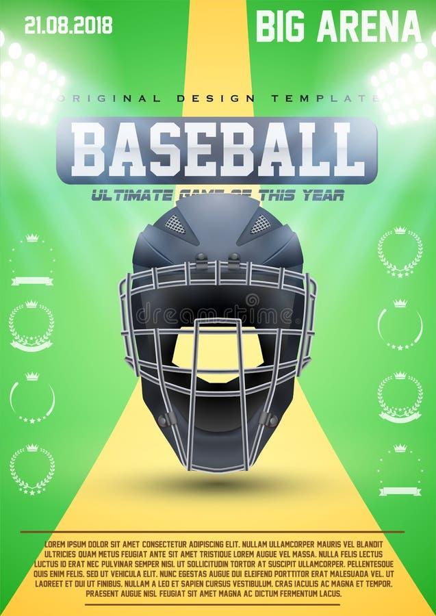 Calibre d'affiche de base-ball illustration stock