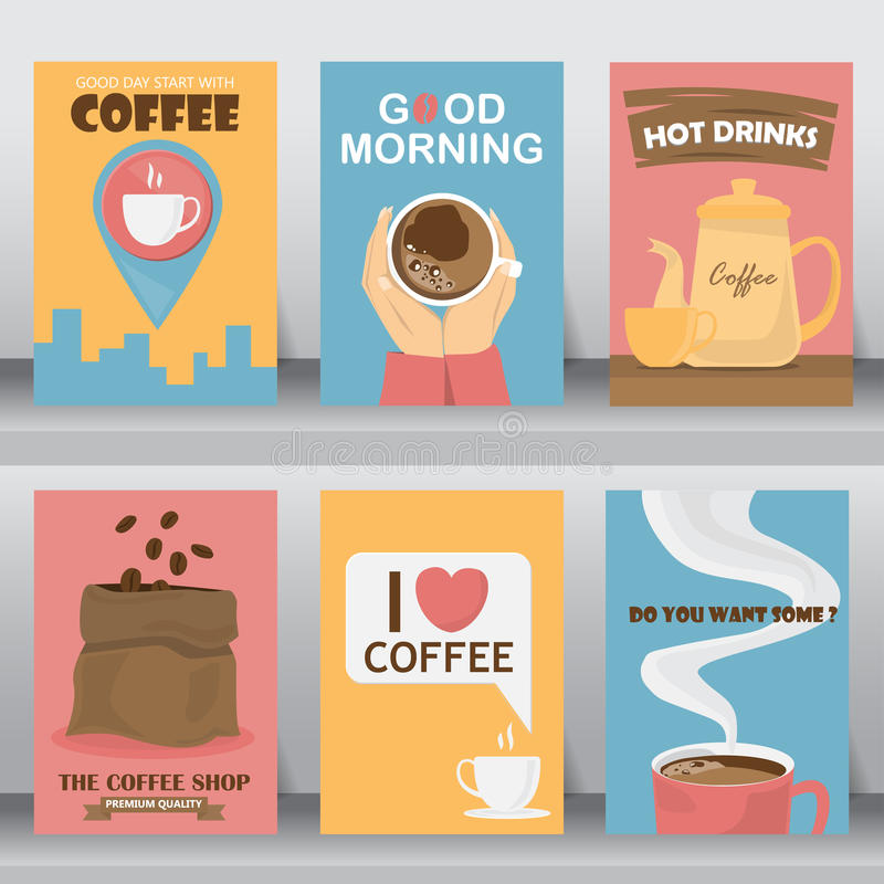 Calibre d'affiche de café, vecteur illustration libre de droits