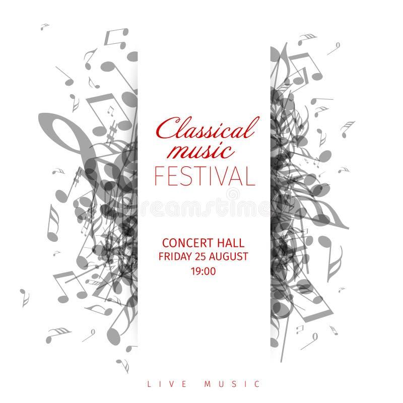 Calibre d'affiche de concert de musique classique illustration libre de droits