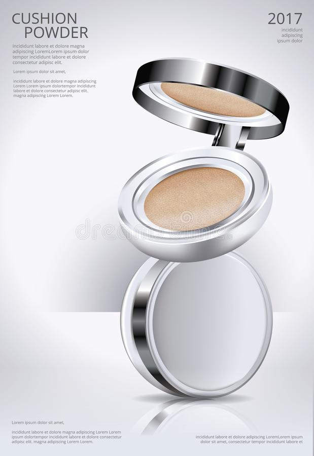 Calibre d'affiche de coussin de poudre de maquillage illustration libre de droits