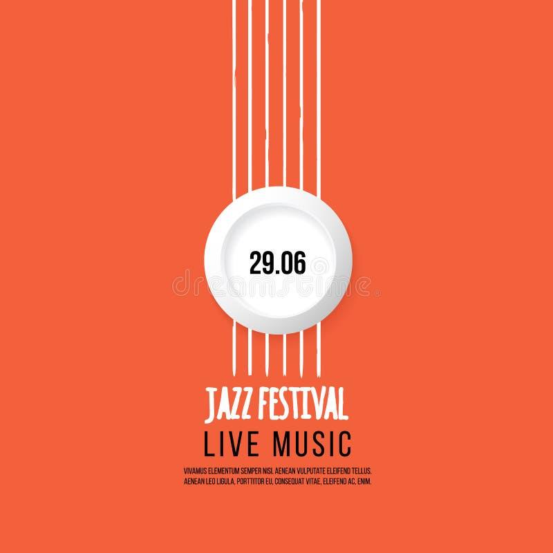 Calibre d'affiche de festival de jazz Jazz Music saxophone Jour international de jazz Élément de conception de vecteur illustration libre de droits
