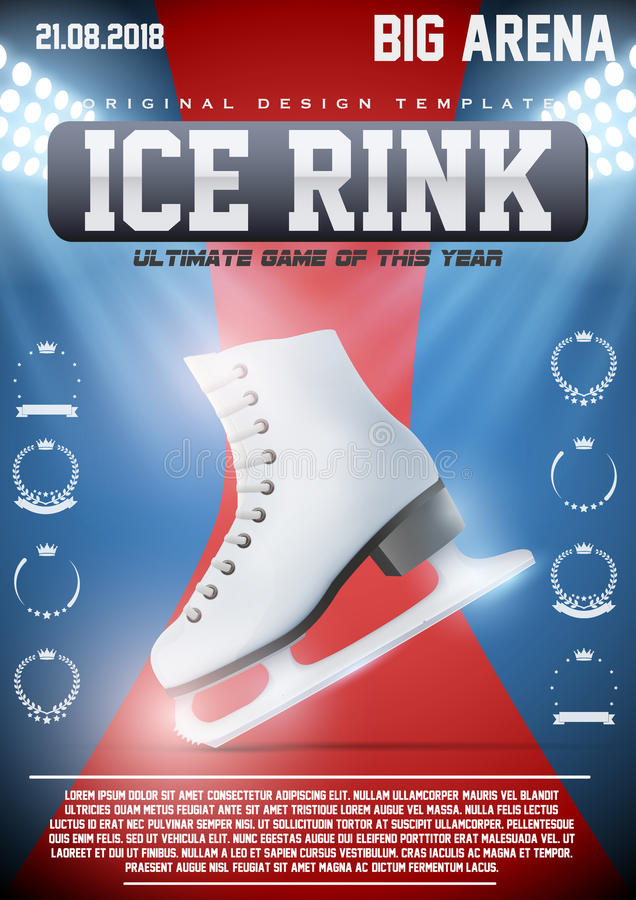 Calibre d'affiche de piste de patinage de glace illustration libre de droits