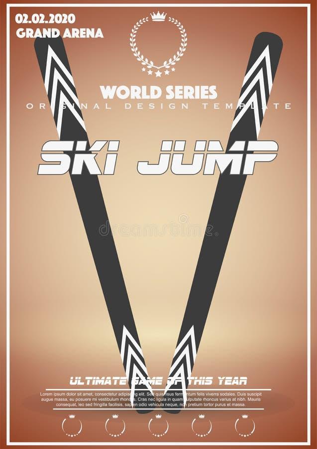 Calibre d'affiche des jeux d'hiver de grand saut illustration stock