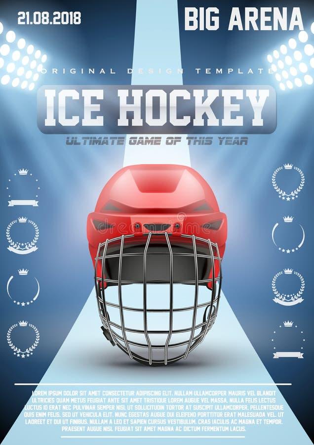 Calibre d'affiche des matchs de hockey de glace illustration libre de droits
