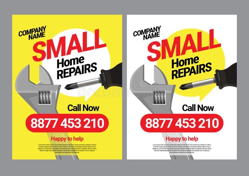 Calibre d'affiche pour les services des réparations à la maison illustration de vecteur