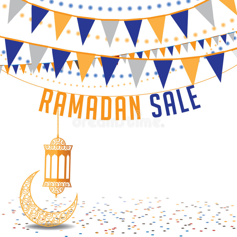 Calibre d'annonce de fond de vente de Ramadan illustration stock