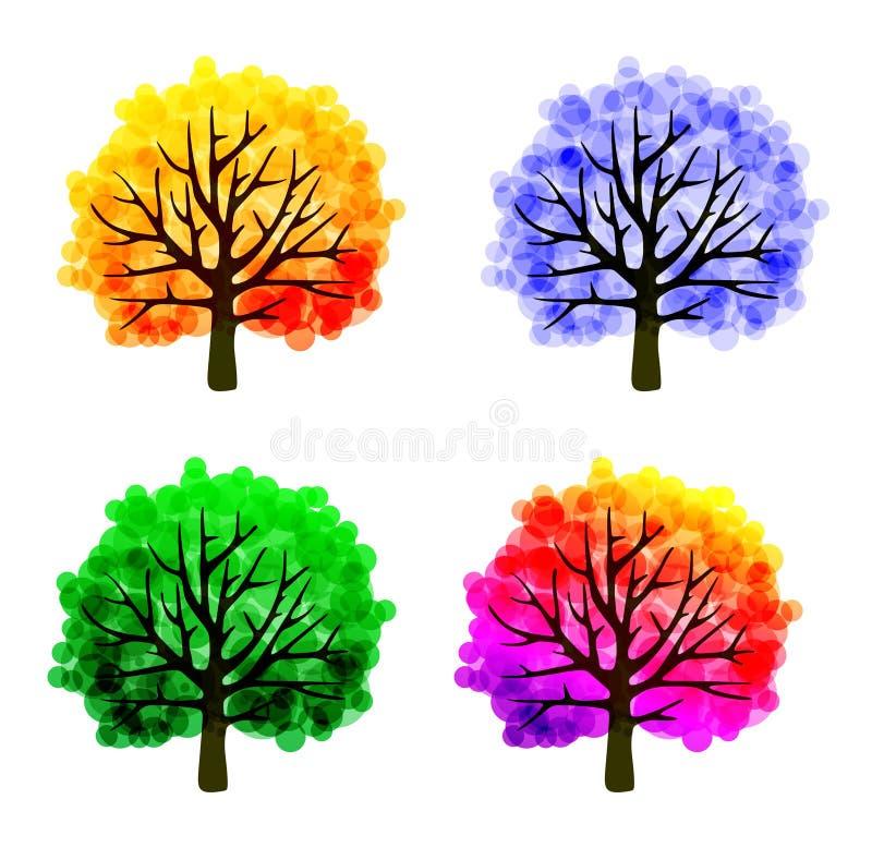 Calibre d'arbre de chute illustration de vecteur