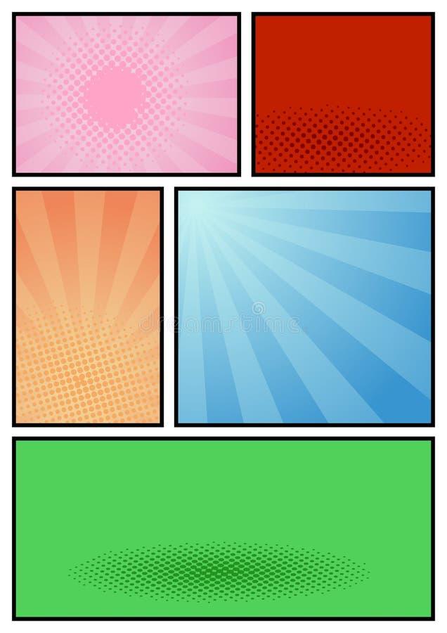 Calibre d'art de bruit de page de bande dessinée illustration stock