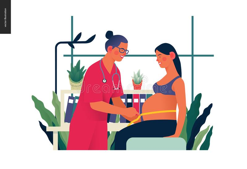 Calibre d'assurance-maladie - couverture courante de grossesse illustration libre de droits
