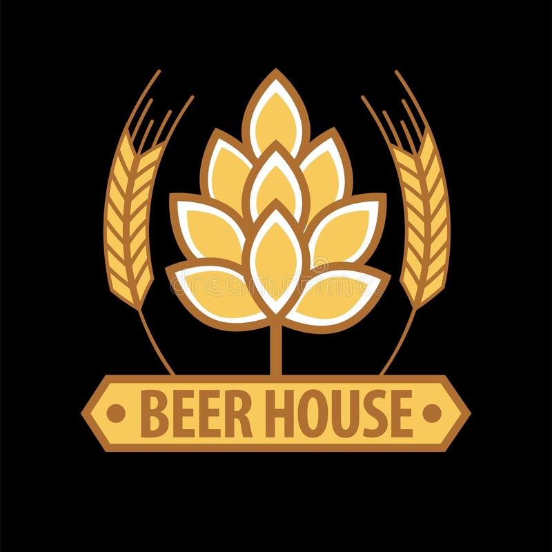 Calibre d'emblème de maison de bière illustration de vecteur