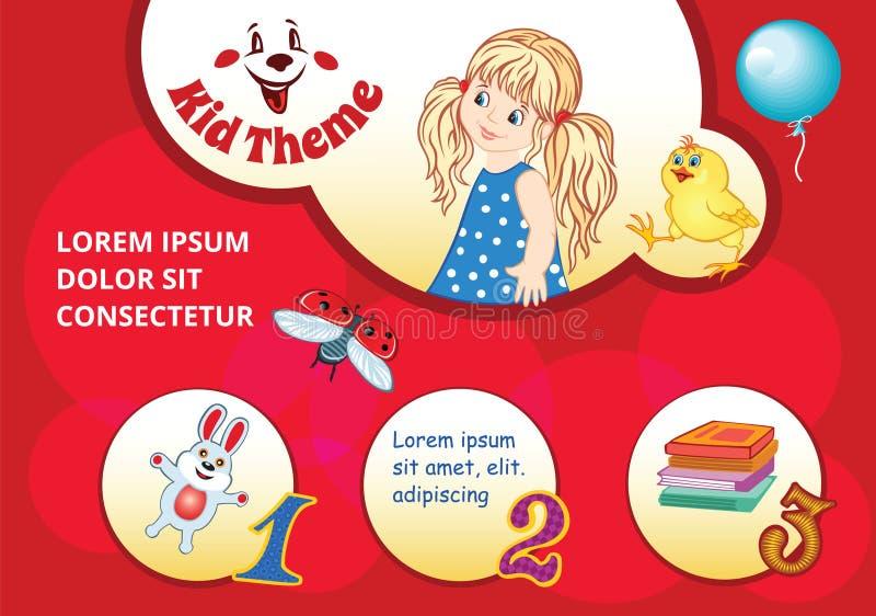 Calibre d'enfant illustration libre de droits
