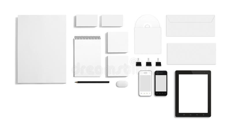 Calibre d'entreprise d'identification de papeterie vide photo libre de droits