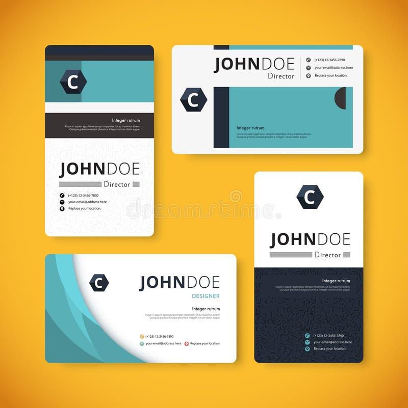 Calibre d'entreprise de carte de visite professionnelle de visite d'indentity conception de calibre illustration libre de droits