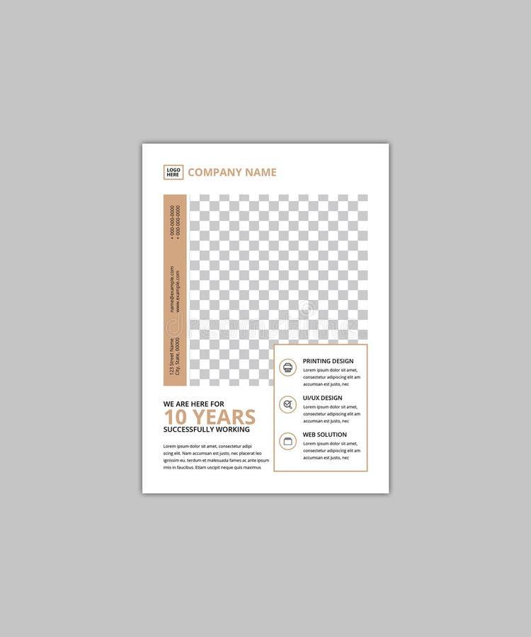 Calibre d'entreprise d'insecte du minimaliste A5 illustration libre de droits