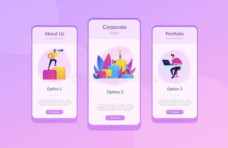 Calibre d'entreprise d'interface d'appli d'échelle illustration stock