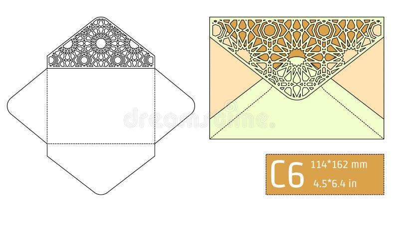 Calibre A d'enveloppe de Lase illustration de vecteur