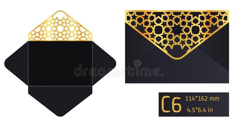 Calibre A d'enveloppe de Lase illustration libre de droits