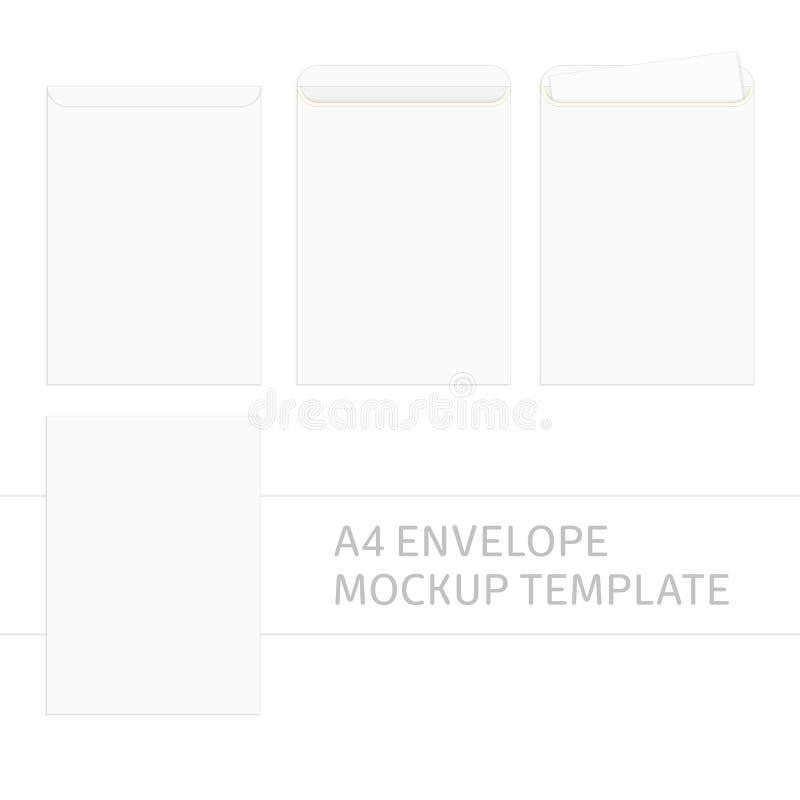 Calibre d'enveloppe du vecteur A4 illustration stock