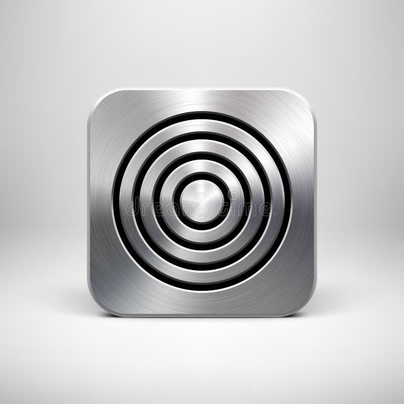 Calibre d'icône de la technologie APP en métal illustration libre de droits
