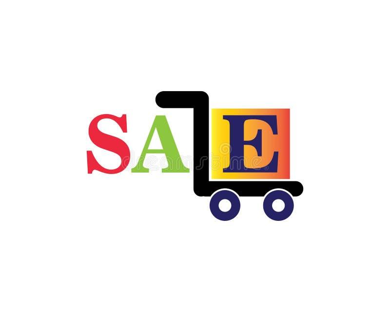 calibre d'icône de logo de boutique de chariot illustration de vecteur