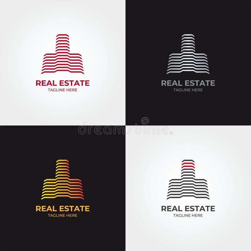 Calibre d'icône de logo d'immobiliers illustration de vecteur