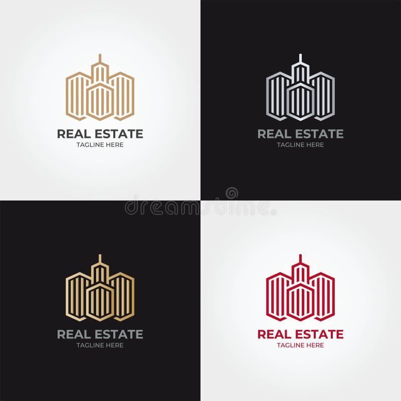Calibre d'icône de logo d'immobiliers photos stock